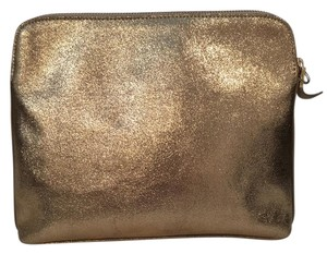 India Hicks Gold Crackle Clutch