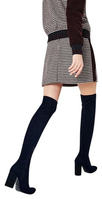Item - Navy Blue New Over The Knee Stretch Leg Tall Boots/Booties Size US 8 Regular (M, B)