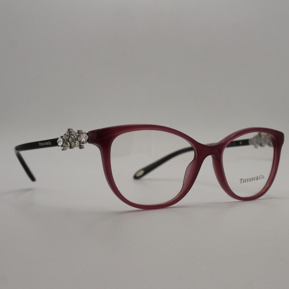 Tiffany & Co. Purple Pearl Victoria Cat Eye Crystal Eyeglasses Frame ...