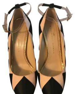Charlotte Olympia black and powder pink Platforms