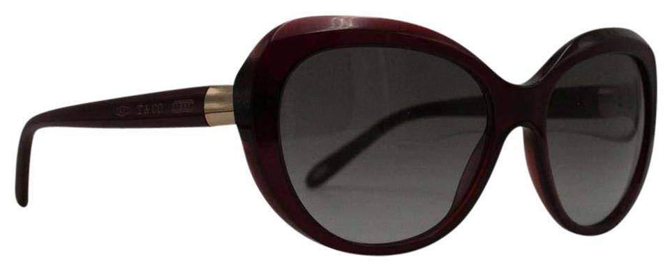 0b589458e444 Tiffany   Co. Bordeaux   Gold Cat Eye Oval 4122 8003 3c Sunglasses ...