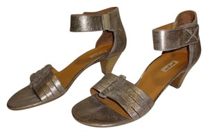 Paul Green smoke gold metallic Sandals