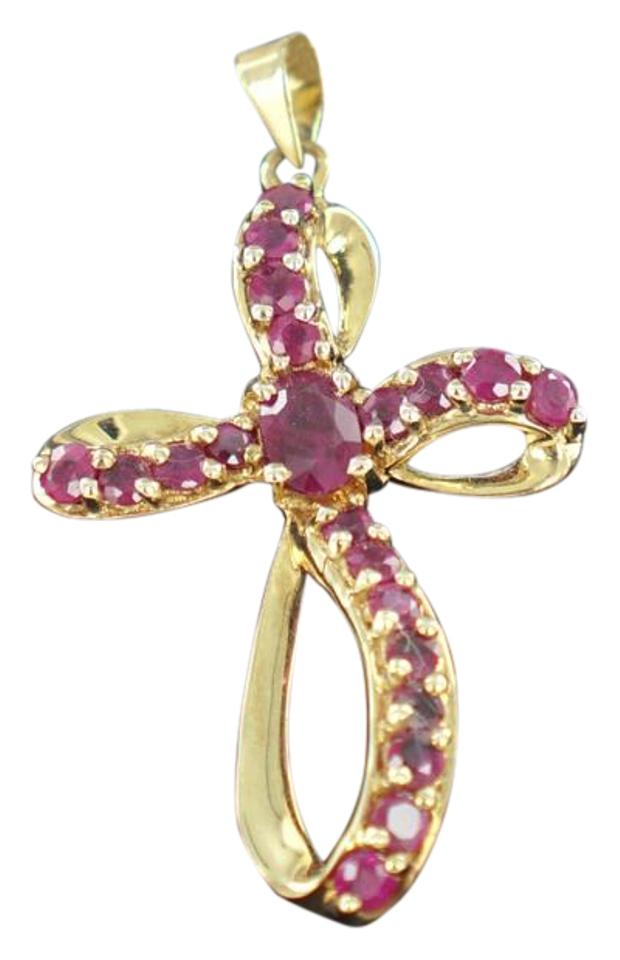 Red 10 kt yellow gold ruby cross pendant 295 grams 014828211 tradesy other 10 kt yellow gold ruby cross pendant 295 grams 014828211 aloadofball Choice Image