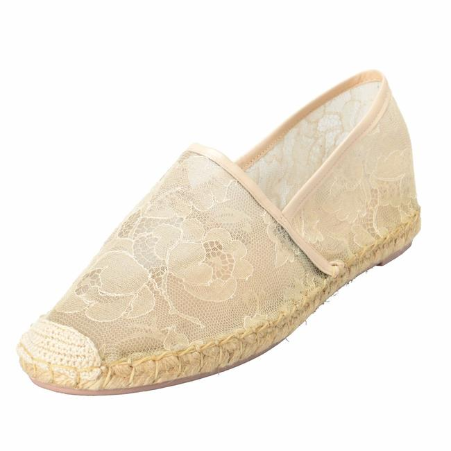 Item - White Garavani Women's Vintage Lace Espadrilles Loafers Flats Size US 10 Regular (M, B)