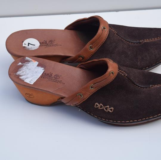 Timberland brown Mules Image 4