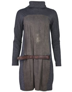 Brunello Cucinelli short dress grey Wool Duede Turtleneck on Tradesy