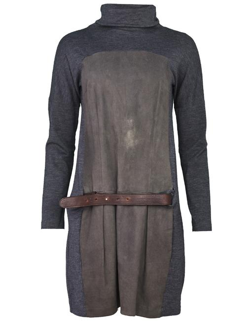 Preload https://img-static.tradesy.com/item/22246580/brunello-cucinelli-grey-wool-and-suede-mid-length-short-casual-dress-size-12-l-0-1-650-650.jpg