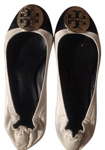 Tory Burch white/black Flats