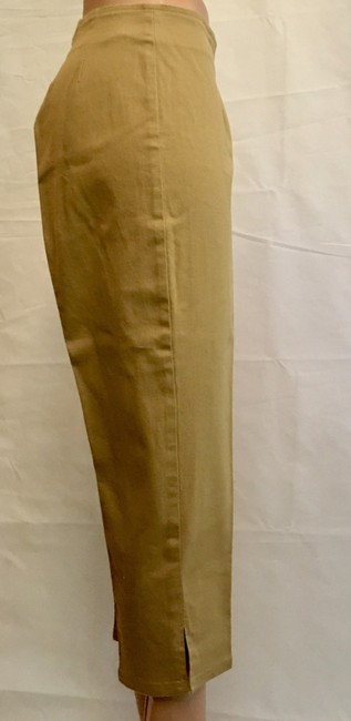 Victoria's Secret Cropped Pant Stretchy Capris Khaki Image 5