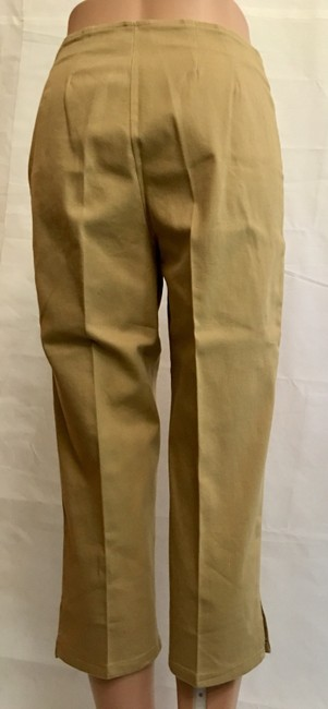 Victoria's Secret Cropped Pant Stretchy Capris Khaki Image 7