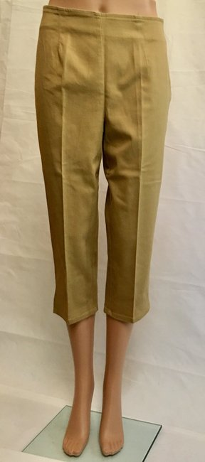 Victoria's Secret Cropped Pant Stretchy Capris Khaki Image 8