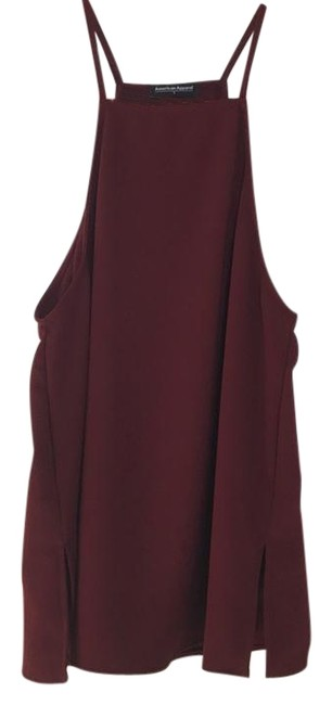 Preload https://img-static.tradesy.com/item/22247115/american-apparel-wine-square-neck-tank-night-out-top-size-4-s-0-1-650-650.jpg