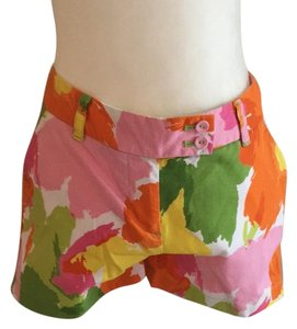 Vineyard Vines Mini/Short Shorts green and pink floral