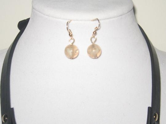 OTHER CHUNKY TORTOISE MARBLE LEATHER STRAP STATEMENT NECKLACE EARRINGS SET Image 4