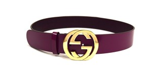 Gucci Gucci GG Patent leather belt