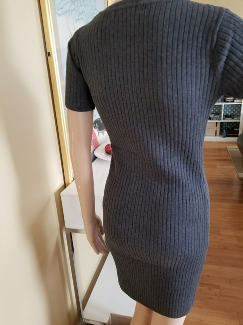 K J Wu short dress Charcoal Sweater New With Tag Cotton Work on Tradesy Image 3