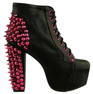 jeffrey campbell cymk lita spike pink boots boots booties on sale. Black Bedroom Furniture Sets. Home Design Ideas