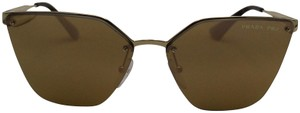 Prada Reflective Rimless Cat Eye Sunglasses