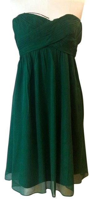 Item - Green Taryn In Silk Chiffon / Style No 22512 Mid-length Cocktail Dress Size 6 (S)