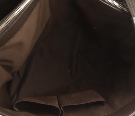 Gucci Canvas Monogram Leather Silver Hardware Tote in Brown Image 6