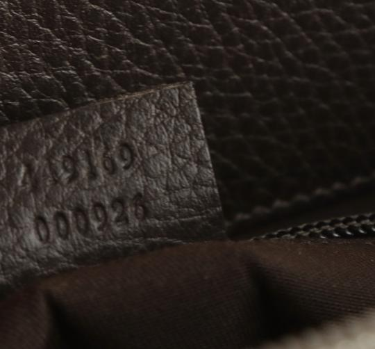 Gucci Canvas Monogram Leather Silver Hardware Tote in Brown Image 8