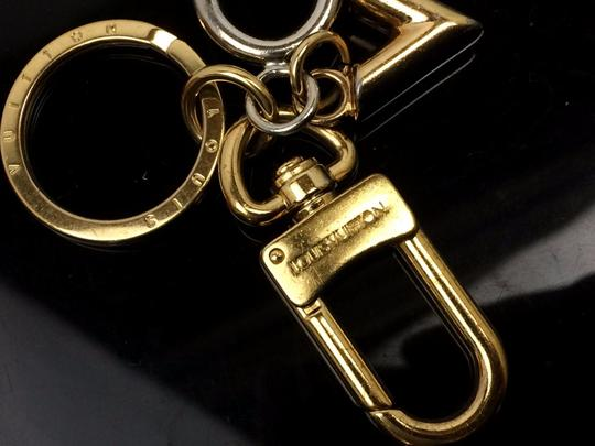Louis Vuitton Auth LOUIS VUITTON Silver and Gold Tone Padlock Shaped Key Holder Image 5