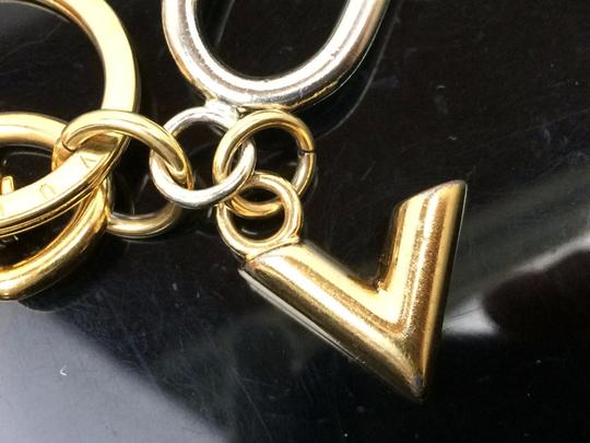 Louis Vuitton Auth LOUIS VUITTON Silver and Gold Tone Padlock Shaped Key Holder Image 9
