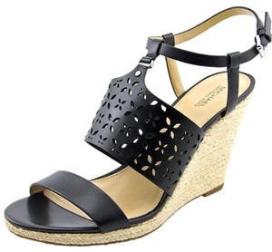 Michael Kors Espadrille Michael Laser Cut black Wedges