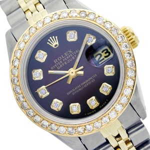 rolex Rolex Datejust 6917 Brown Vignette Diamond Lady Watch