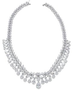 CZ by Kenneth Jay Lane CZ by Kenneth Jay Lane -double pear bib necklace
