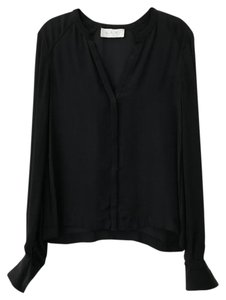 A.L.C. Silk Work Top Navy and Black