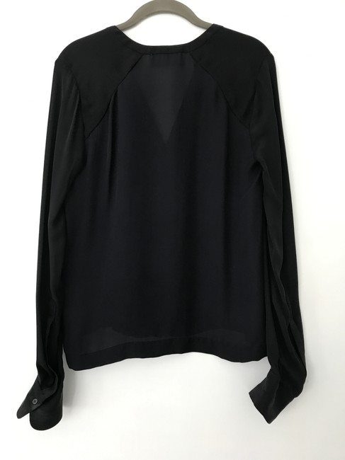 A.L.C. Silk Work Top Navy and Black Image 1