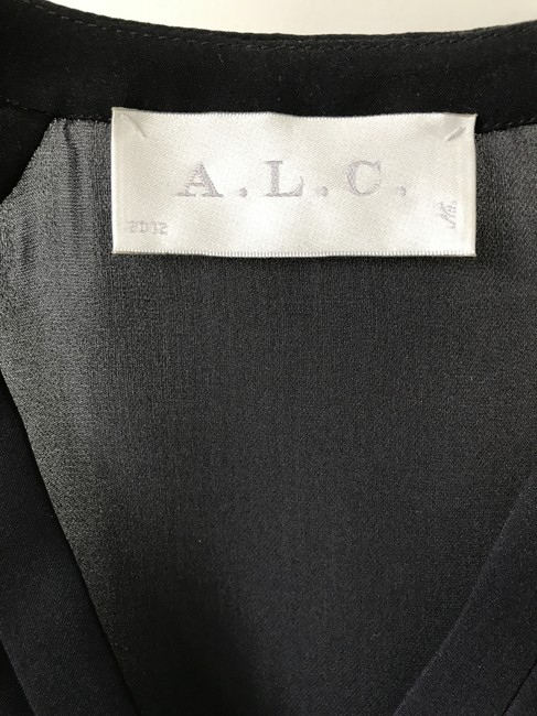 A.L.C. Silk Work Top Navy and Black Image 2