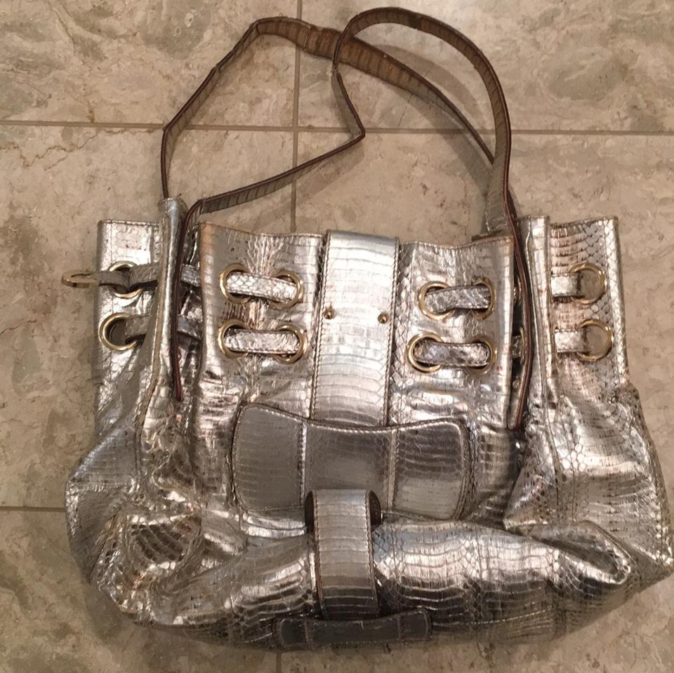 Ramona Jimmy Gold Choo Skin Tote Leather and Silver Python 7qwvFq5