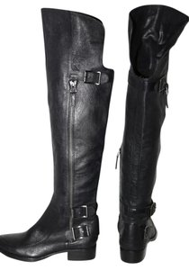 SAM EDELMAN Leather Buckle Black Boots