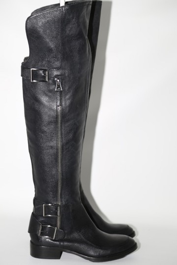 SAM EDELMAN Leather Buckle Black Boots Image 1