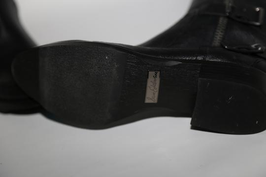 SAM EDELMAN Leather Buckle Black Boots Image 11