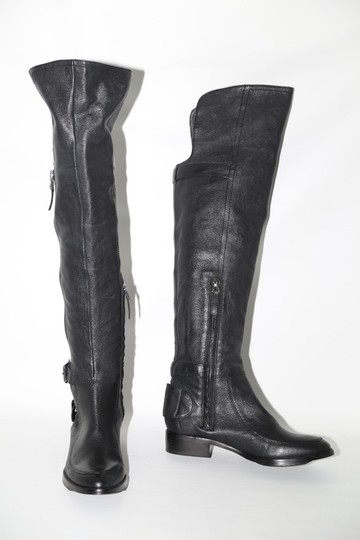 SAM EDELMAN Leather Buckle Black Boots Image 2