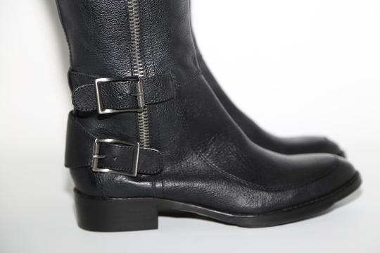 SAM EDELMAN Leather Buckle Black Boots Image 3