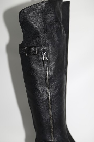 SAM EDELMAN Leather Buckle Black Boots Image 4