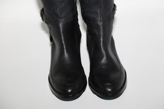 SAM EDELMAN Leather Buckle Black Boots Image 5