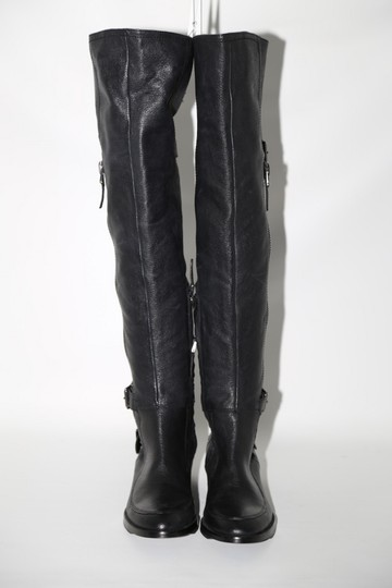 SAM EDELMAN Leather Buckle Black Boots Image 6