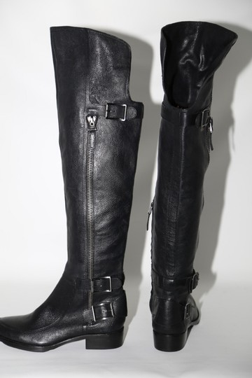 SAM EDELMAN Leather Buckle Black Boots Image 7