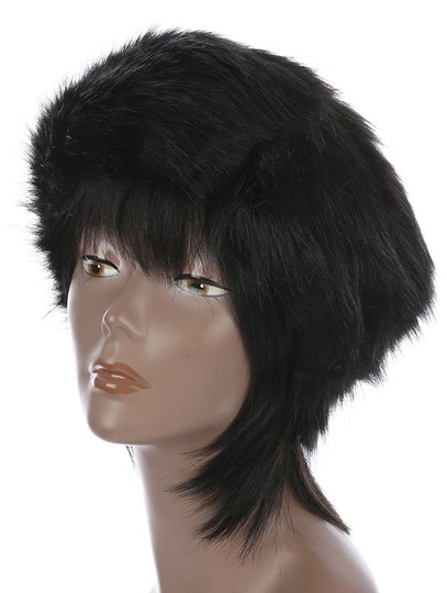 Other Warm Chic Open Top Black Faux Fur Winter Cosask Ski Hat Headband Image 1