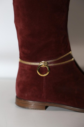 SERGIO ROSSI Knee High Burgundy Boots Image 5