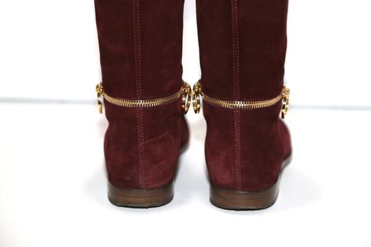 SERGIO ROSSI Knee High Burgundy Boots Image 9