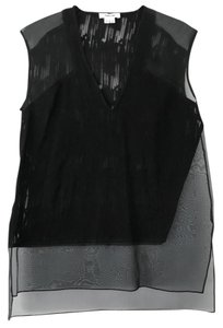 Helmut Lang Going Out Night Out Sheer Top Black