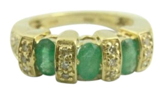 Preload https://img-static.tradesy.com/item/22248082/emerald-antique-three-stone-and-diamond-14k-yellow-gold-ring-0-1-540-540.jpg