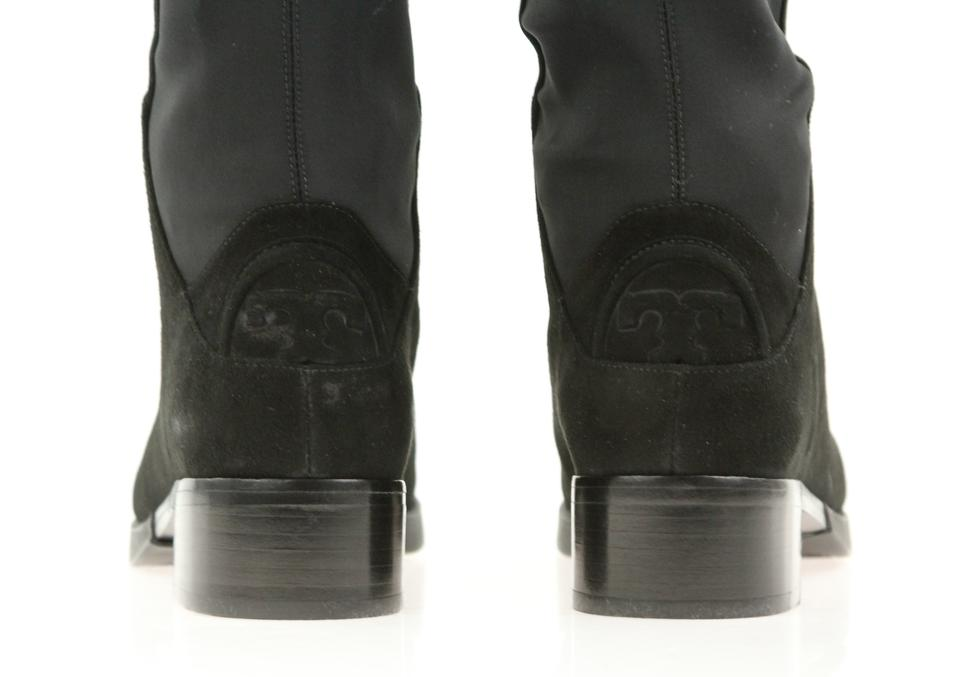 122382c72ad Tory Burch Black Caitlin Stretch Otk Suede Neoprene Boots Booties Size US  6.5 Regular (M