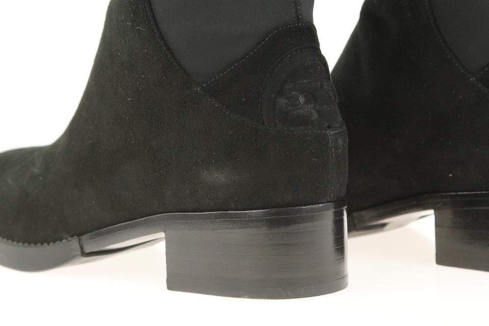 50fd606bbe2 Tory Burch Black Caitlin Stretch Otk Suede Neoprene Boots Booties ...